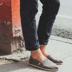 TOMS Classic Alpargata Slip On Shoes Ash